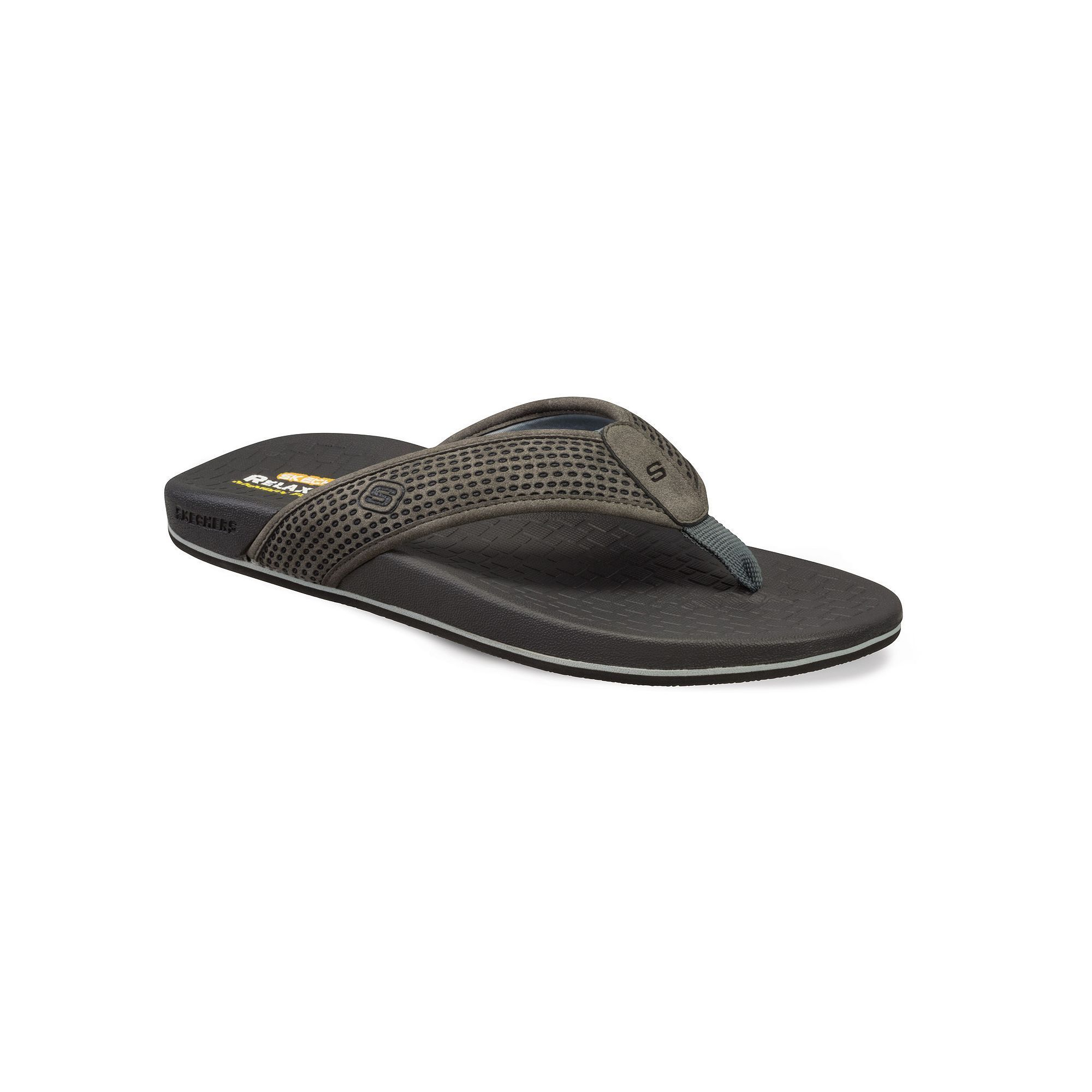 Skechers Relaxed Fit Pelem Emiro Flip-Flop(Men's) -Gray Clearance Pre Order Buy Cheap Footlocker Pictures Sale For Cheap For Cheap Sale Online Discount Affordable LBLwFHF