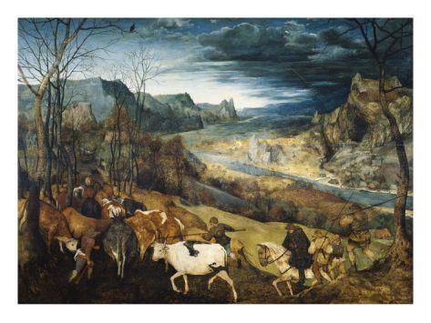 22x16 $49.99 The Return of the Herd Giclee Print by Pieter Bruegel the Elder at Art.com