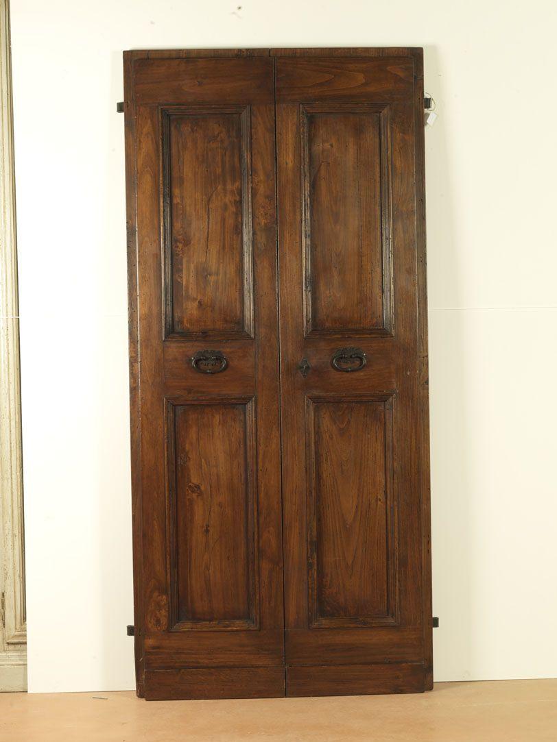 Porte antiche a 2 ante in rovere del \'700 cm210x110 (una di sei ...