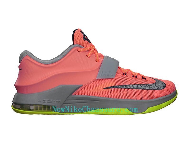 quality design dd290 55f9c Nike KD 7 35K Degrees - Chaussure De Basket-ball pour Homme Pas Cher Orange  Gris-653996-840 - Boutique Nike, Nike Baskets Pas Cher en Ligne