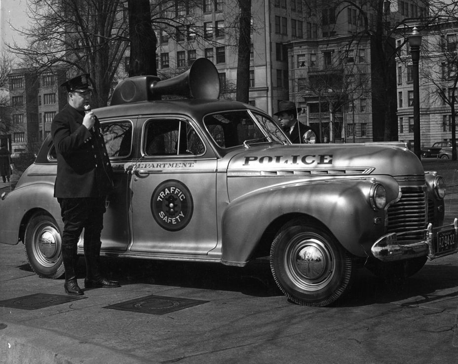 Detroit Safety Police Officer. 1942. I really want a megaphone on ...