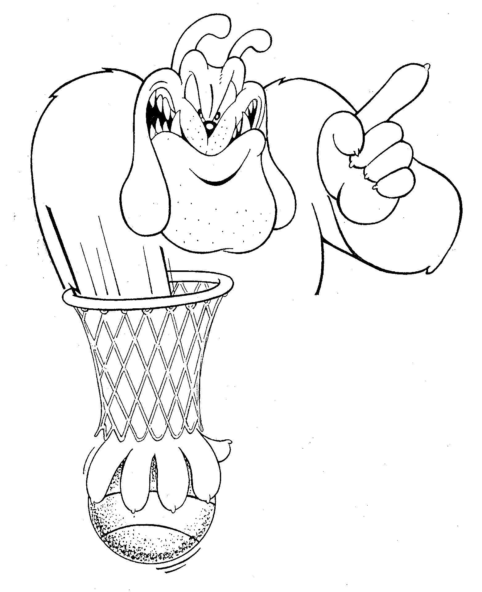 Uga Basketball Dawg Coloring Sheet Printable Football Coloring