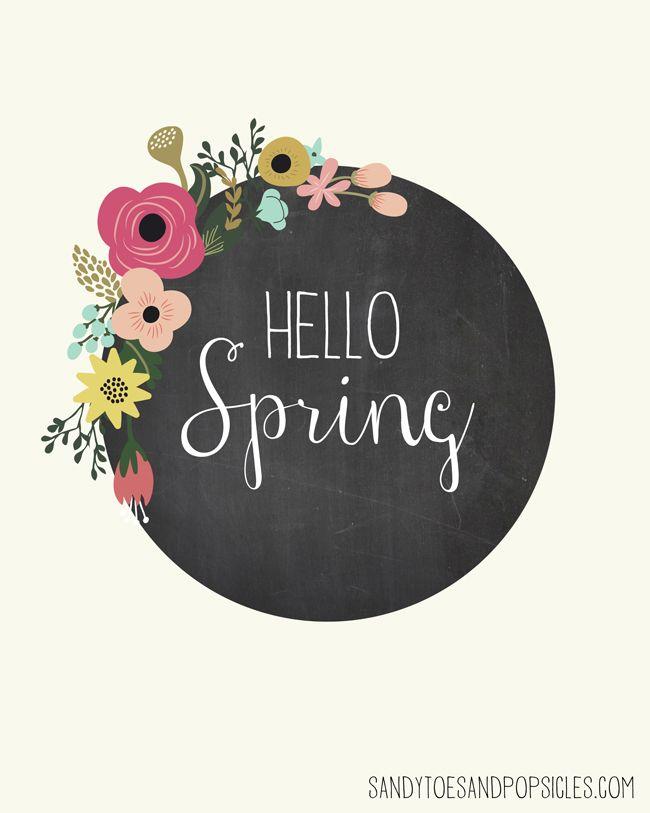 Hello Spring | Free Spring Printable - Popsicle Blog #printable #spring