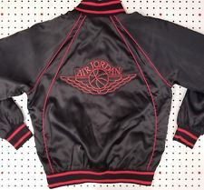 b88120c8e7f0ed 1985 OG Wings Logo AIR JORDAN Jacket NIKE Glossy BLACK Satin MICHAEL pre- Jumpman
