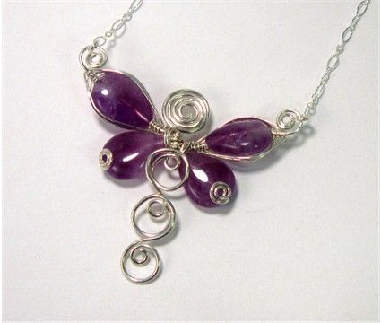 Wire Wrapped Dragonfly Pendant