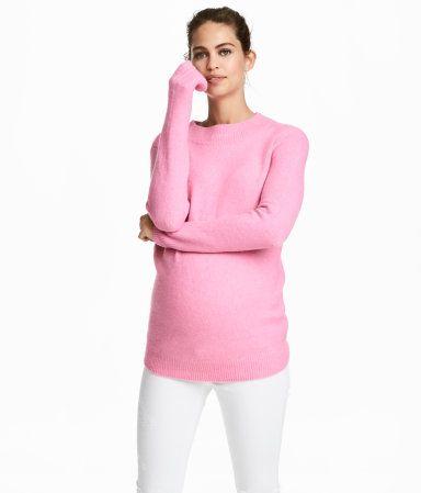 a5c90dee4e95c MAMA Knit Sweater | Light pink | Women | H&M US | Bump Style ...