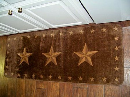 Rustic Star Christmas Ornament Rustic Star Rug 24 Quot X60