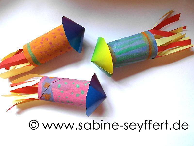 Diy Basteln Für Silvester Bunte Raketen Aus Klorollen