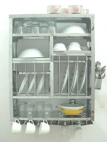 Large Stainless Steel Wall Mounted Dish Rack--I have seen people use two side-by-side.  sc 1 st  Pinterest & Large Stainless Steel Wall Mounted Dish Rack--I have seen people use ...