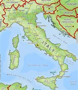 Italy Physical Map Bing Images With Images Italy Map Italy Sea