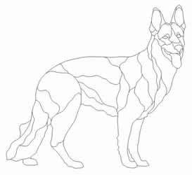 German Shepherd Pattern -- I bet I could use this for a dog quilt.