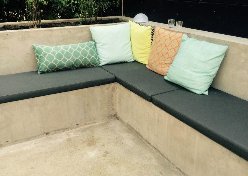 Loungebank Kussens Ikea : Loungebank betonlook garden ideas sierkussens