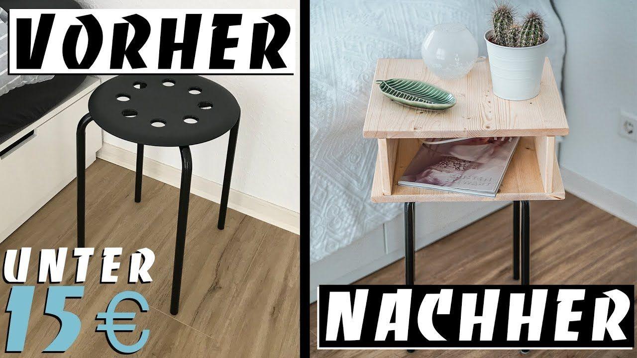 EINFACHER IKEA HACK DIY NACHTTISCH unter 15 € | EASY ALEX