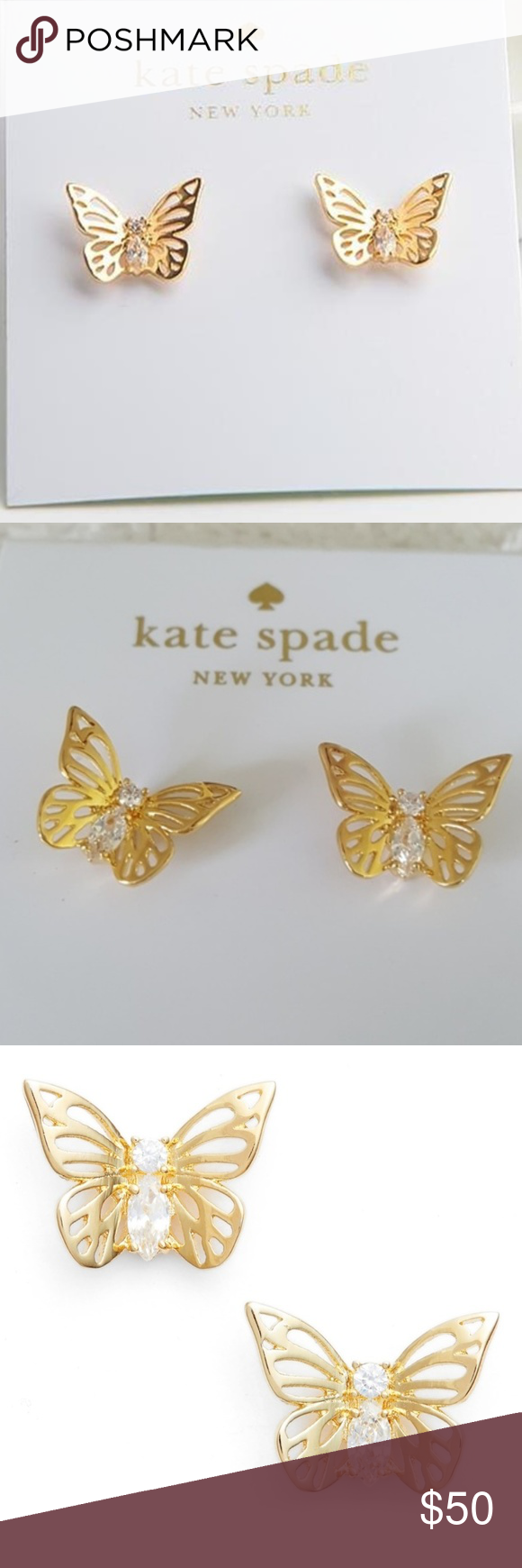 25541a92a NWT Kate Spade Social Butterfly Earrings Kate Spade Social Butterfly  Earrings New with tags Social Butterfly