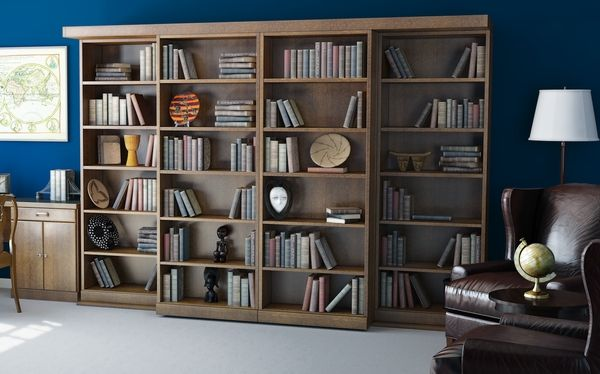 Superior Wall Bed Factory Makes These Sliding Bookcase Doors To Conceal A Muprhy Bed  U2013 Source: Http://www.wallbedfactory.com/murphy Bed/abbott Library Murphy Bed