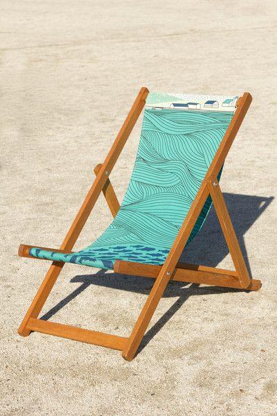 Quiet Harbour Deckchair, (side view on sand) Laurie Hastings - CultureLabel - 2