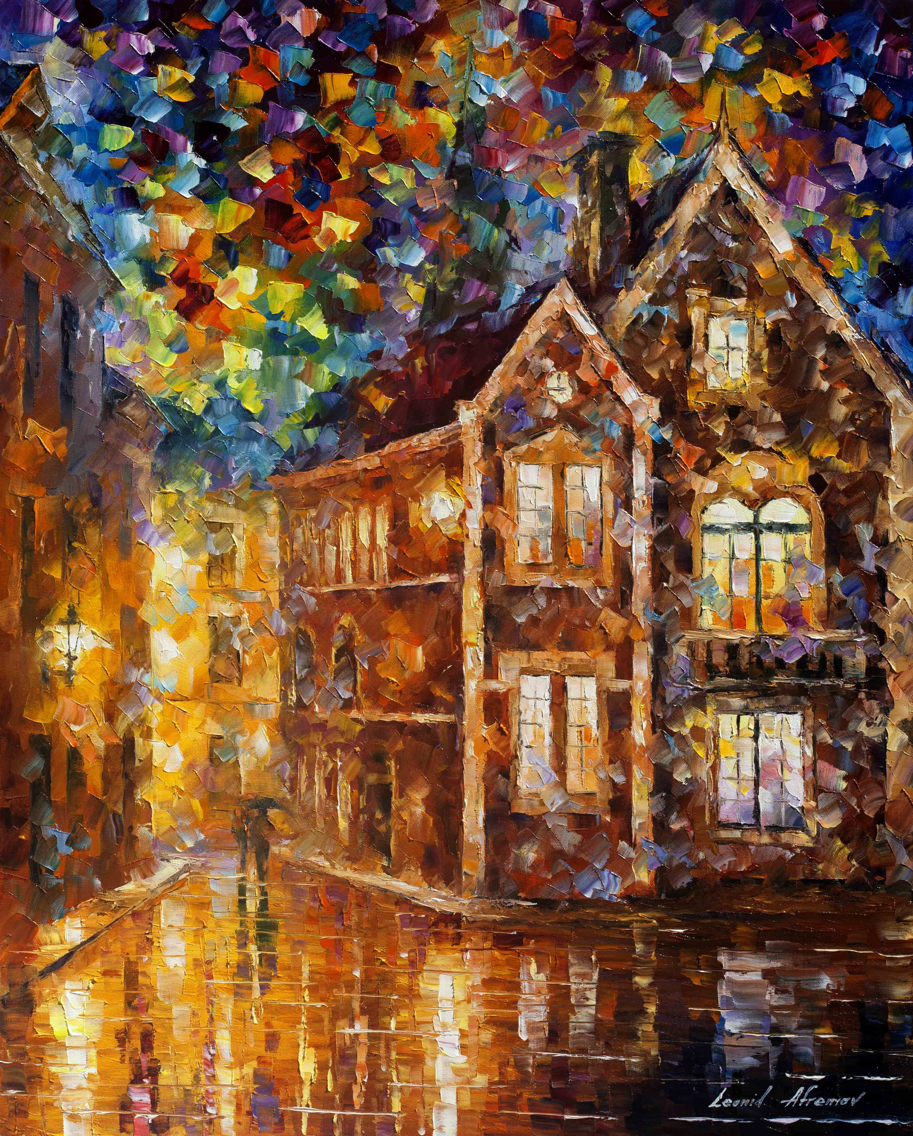 BACK IN TOWN — PALETTE KNIFE Oil Painting On Canvas
