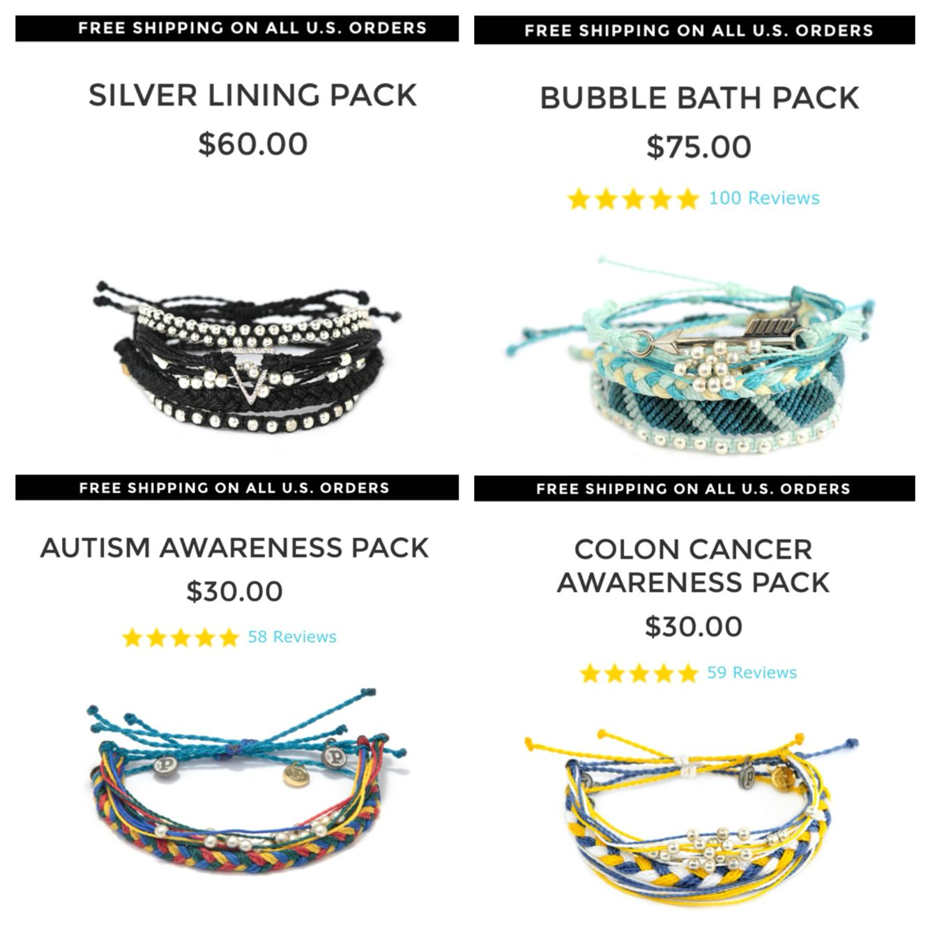 Pura Vida Style Packs Mariashute20 For 20 Off Colon Cancer Awareness Pura Vida Pure Products