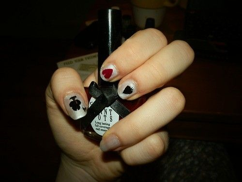 Millie French: Playing Card Nails