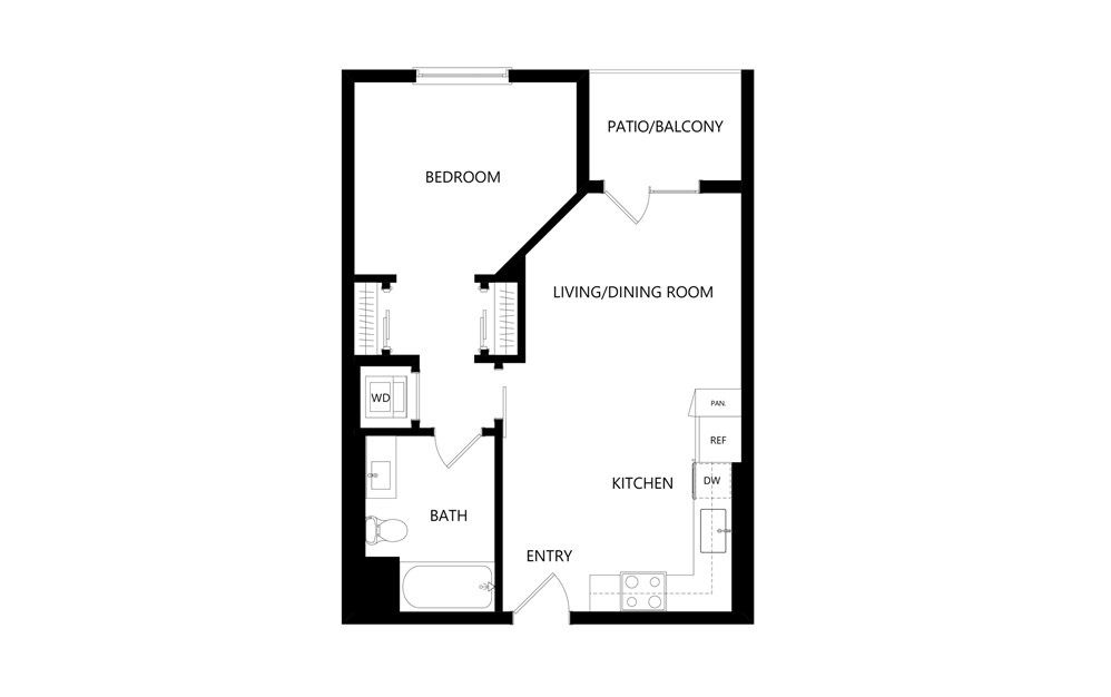 Studio Junior 1 Bedroom Floor Plans Studio Floor Plans Apartment Floor Plan