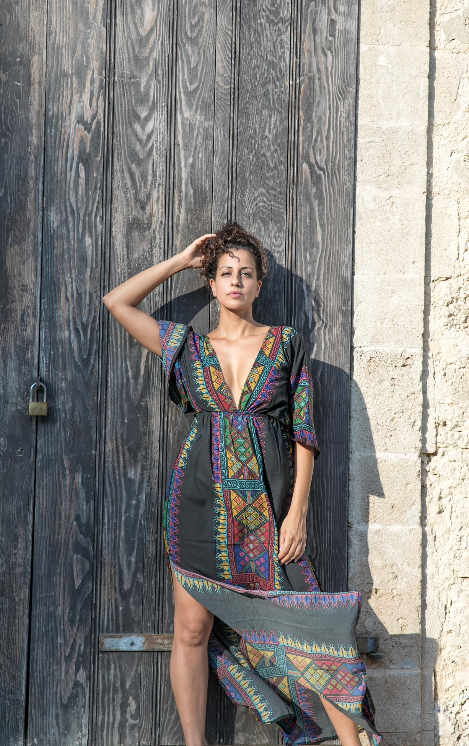 Desert Wind Dress Boho Maxi Dress Kaftan Long Dress Open Back Maxi Dress Dress With Sleeves Boho Maxi Dress Boho Dress Elegant Summer Dresses [ 2526 x 1588 Pixel ]