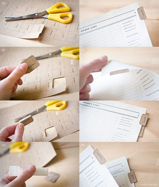 Diy Calendar Tabs : D i y tabs in the wedding planner planners etsy and