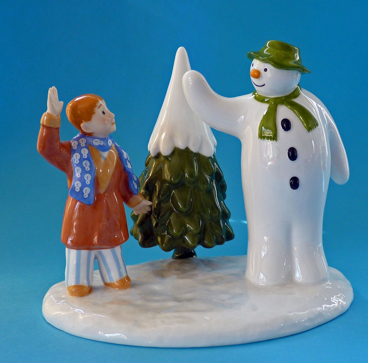 "Raymond Briggs The Snowman Christmas Tree Decorations: Coalport ""The Snowman"