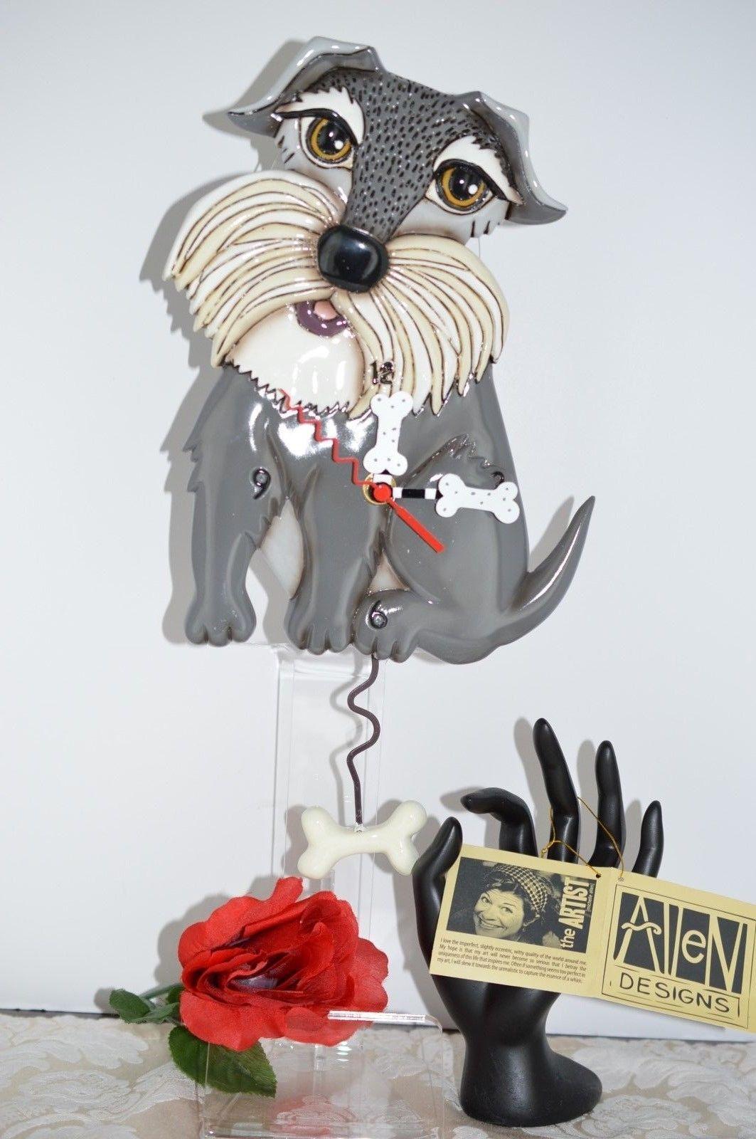 Michelle Allen Designs Whimsical Schnauzer Dog Clock Ship Priority In 24 Hrs Allendesignswallclocks Schnauzer Dogs Colorful Wall Clocks Whimsical
