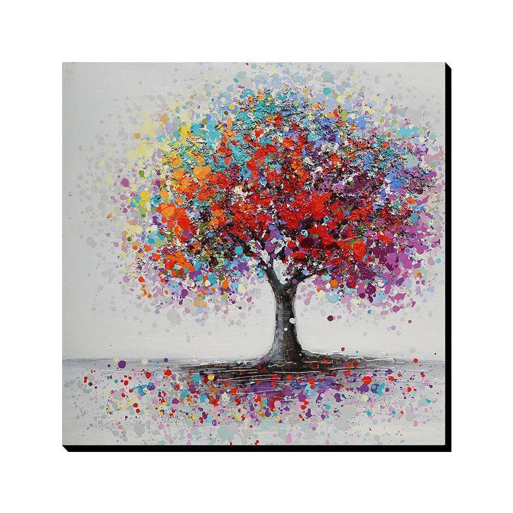 Amazon Asmork 100%手書きアートポスター 絵画 モダン アートパネル 絵画 インテリア 油画 風景画 壁掛け 30*30cm (1) 風景 オンライン通販