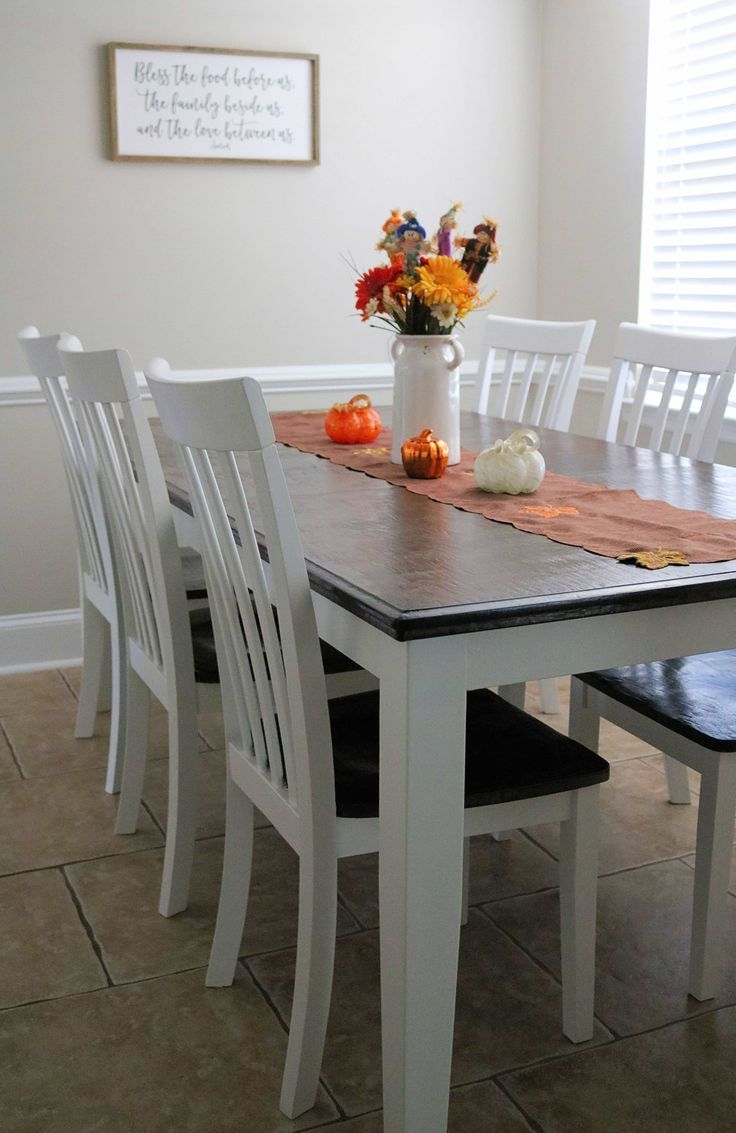 Chalk paint dining table makeover diy dining