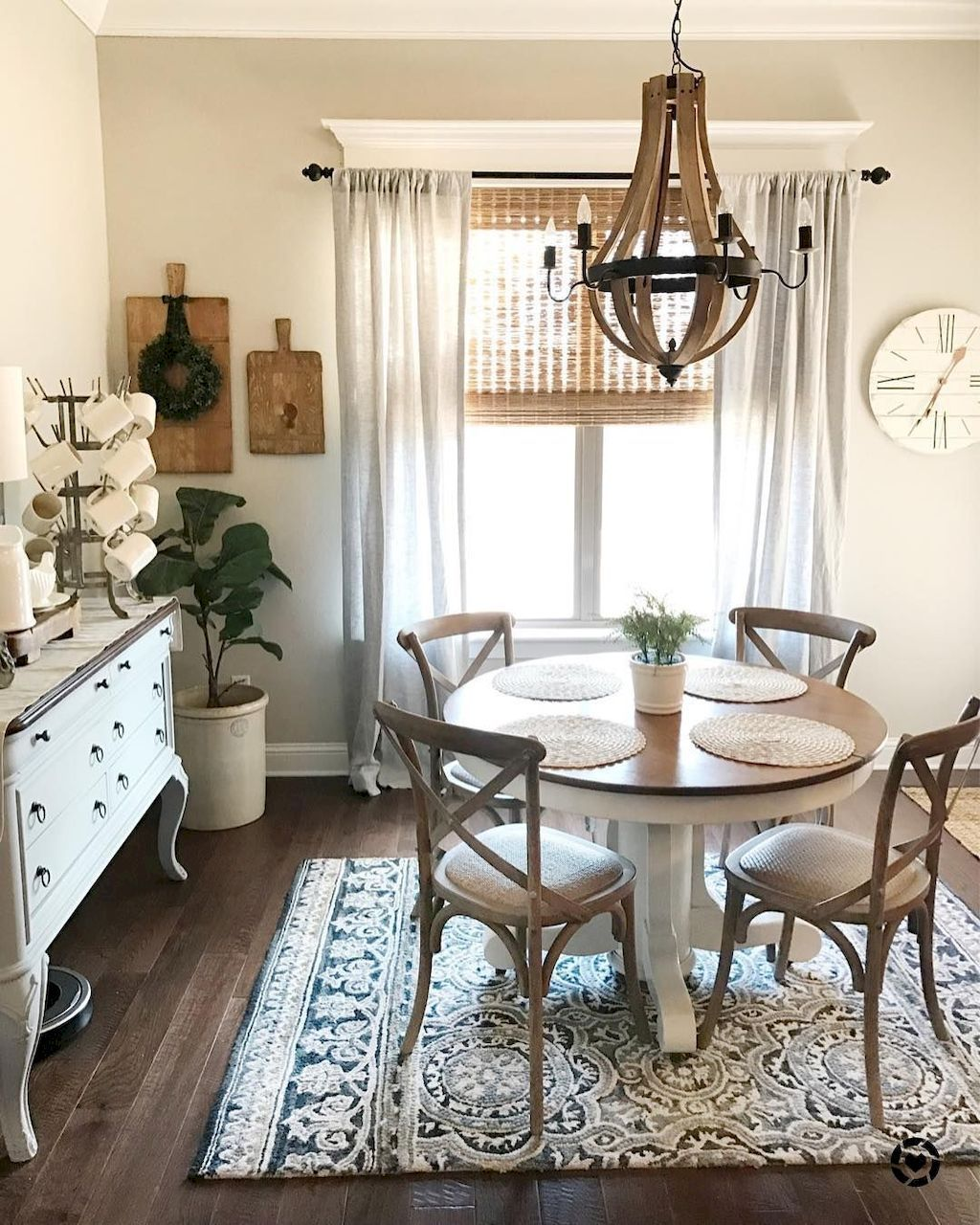32 Stylish Dining Room Ideas To Impress Your Dinner Guests: 80+ STUNNING RUSTIC FARMHOUSE DINING ROOM SET FURNITURE