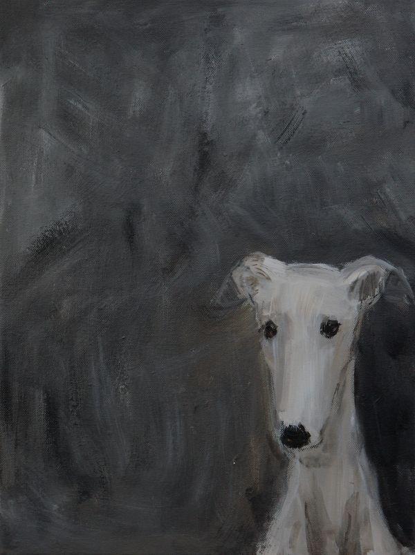 wei er windhund acryl auf leinwand sold greyhound art by claudia gaede pinterest hunde. Black Bedroom Furniture Sets. Home Design Ideas