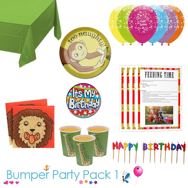 Dear Zoo Party Tableware Bumper Pack 1 With Free It S My Birthday Badge Downloadable Pa Dear Zoo Party Childrens Party Supplies Birthday Party Themes