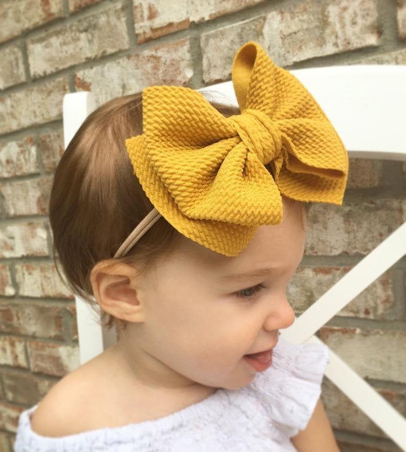 Baby Girl Headband Bow headbands Set of 3 Baby Headbands Toddler Hair Accessory Baby Bow Nude Colour Bows Nude Nylon Baby Hairband