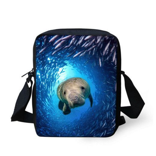 2016 Sea World Cross Body Bags Designer High Quality Men Messenger Bags for Male Teenager Boys and Girls Fashion Kids schoolbags