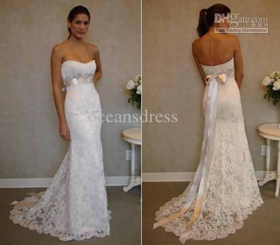 New Ivory White Lace Wedding Dresses Dress