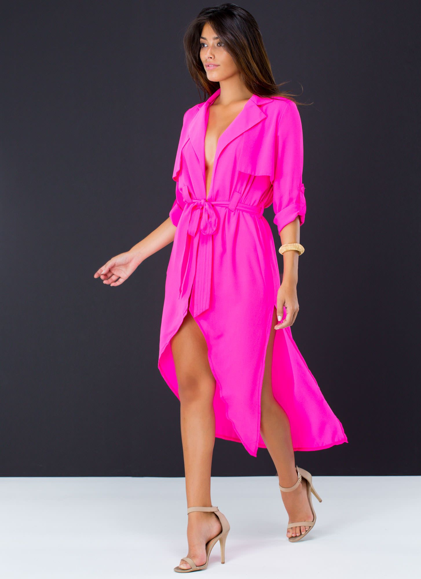 This chiffon trench coat is so versatile thanks to the material. Now ...