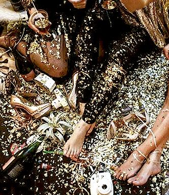 champagne, glitter, glitz
