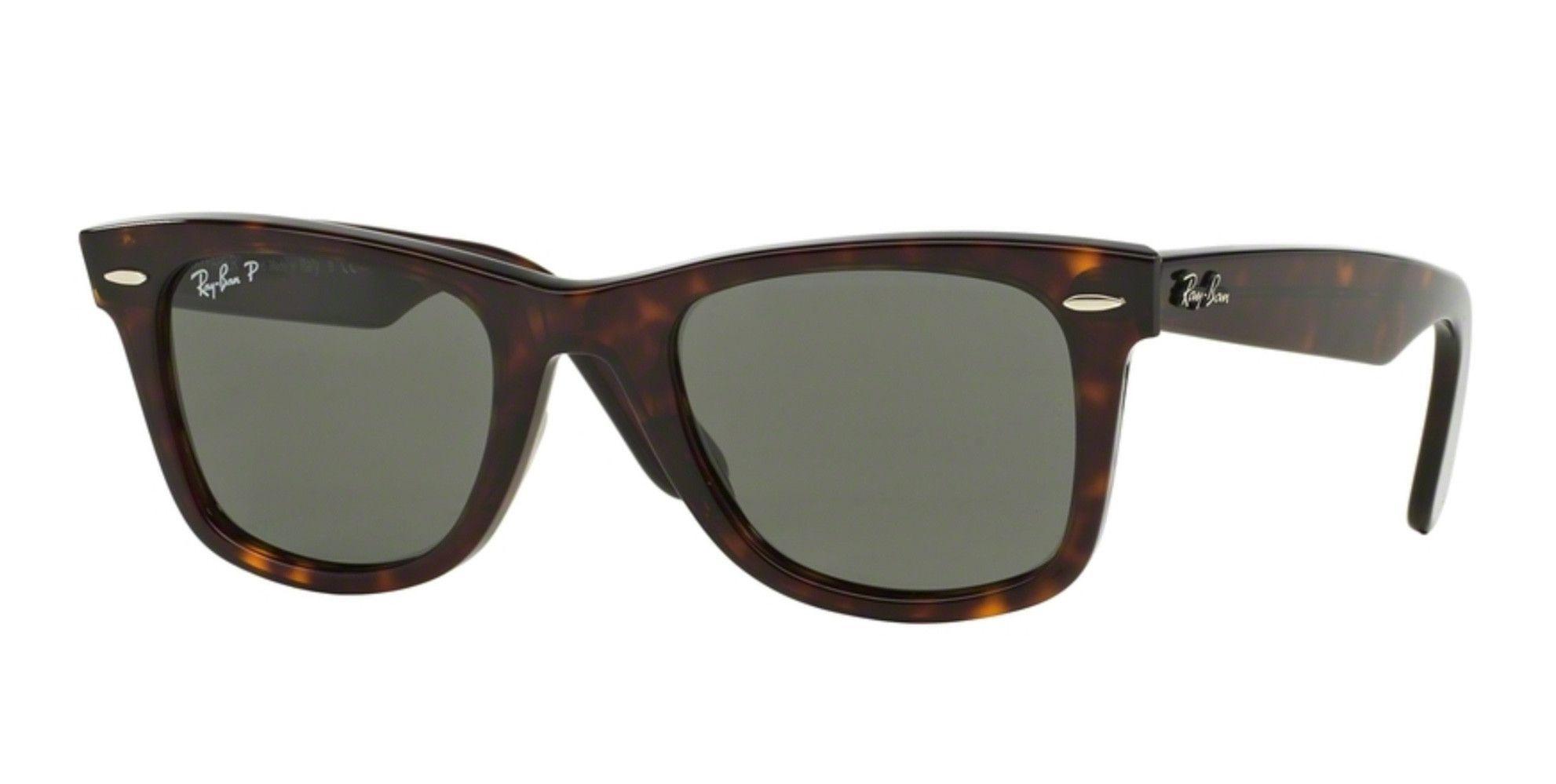 Ray-Ban RB2140-902/58 Tortoise Shell Polarized Original Wayfarer Sunglasses