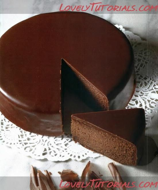 "Торт ""Захер""-Sachertorte Рецепт взят из журнала ""Изысканная выпечка"" Огр..."