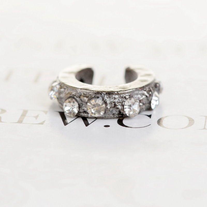 Vintage Gallant Punk Diamante Open Above Knuckle Skinny Top Finger Stack Rings | eBay