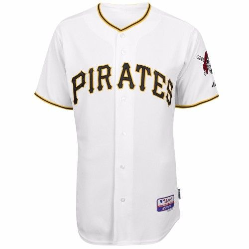 Pittsburgh Pirates MLB Majestic Men's White Authentic On-Field Cool Base  Jersey ...