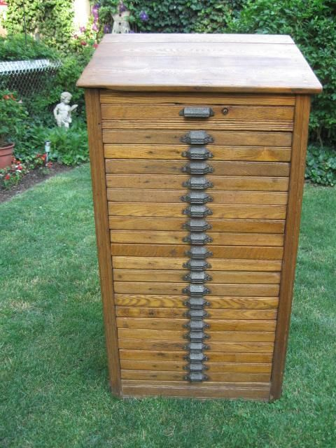 Letterpress Printers Type Cabinet Printing Press Drawers