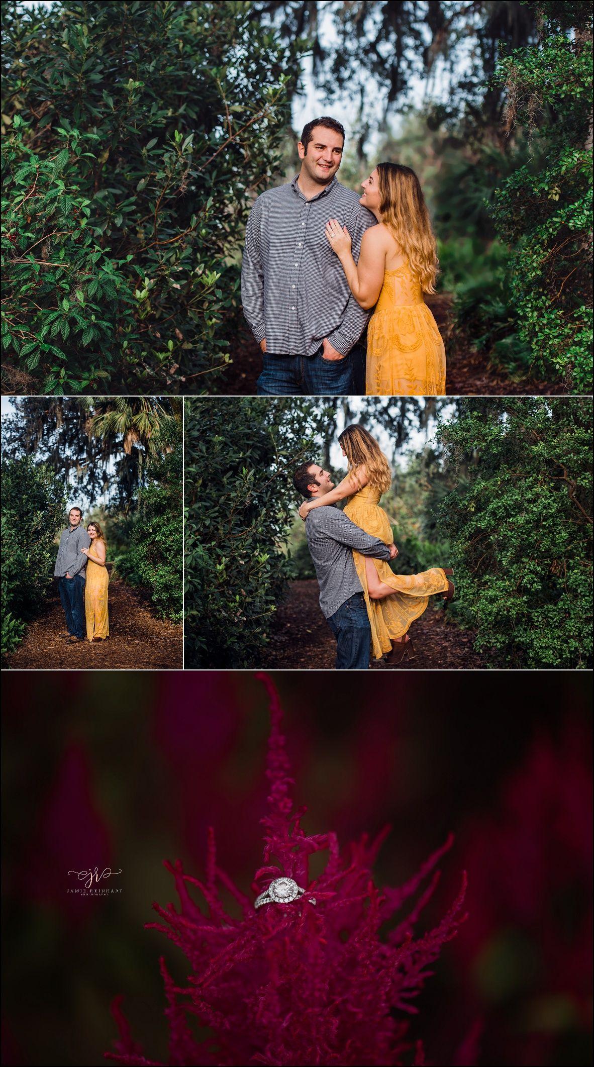 Best dress to wear to a garden wedding  Bok Tower Gardens Engagement Session  Engagement session