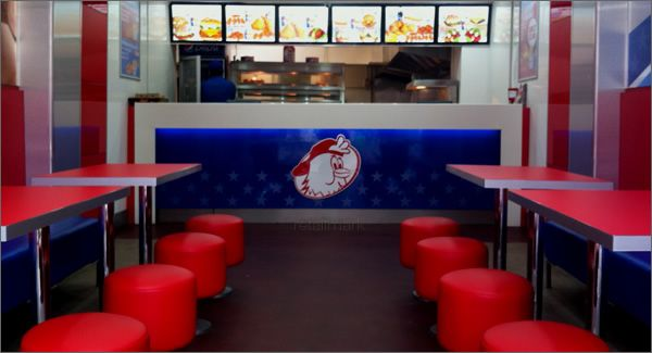 Retail Mark Was Responsible For The Brand Development And Interior Design  For Maryland Chicken In Leicester And Nottingham.