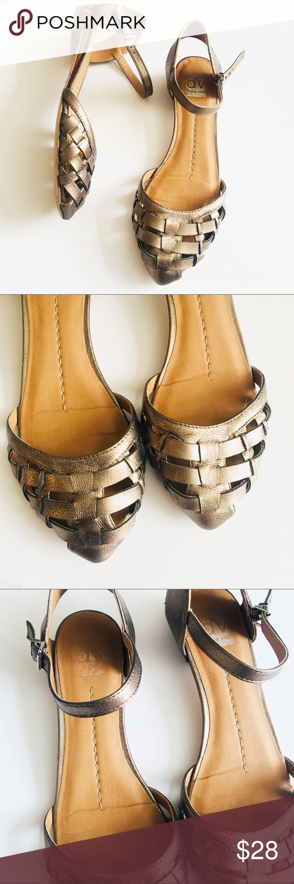 ab80a49a3 DV Dolce Vita size 8.5 bronze ankle strap sandals Minor signs of wear  gently used in great pre owned condition DV by Dolce Vita Shoes Sandals