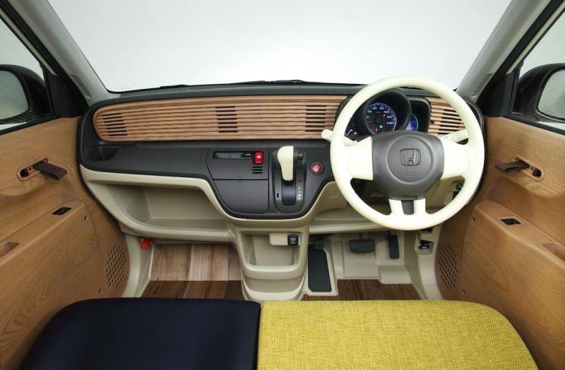 Honda N One Natural Concept Is A Funky Kei Ecobox With Wooden Interior In 2020 Honda Kei Car Van Dwelling