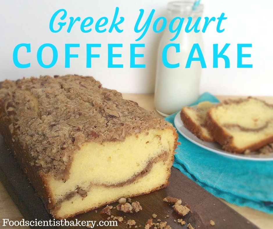 Greek Yogurt Coffee Cake Moist Tender With A Streusel Ripple Will Make Everyone Happy