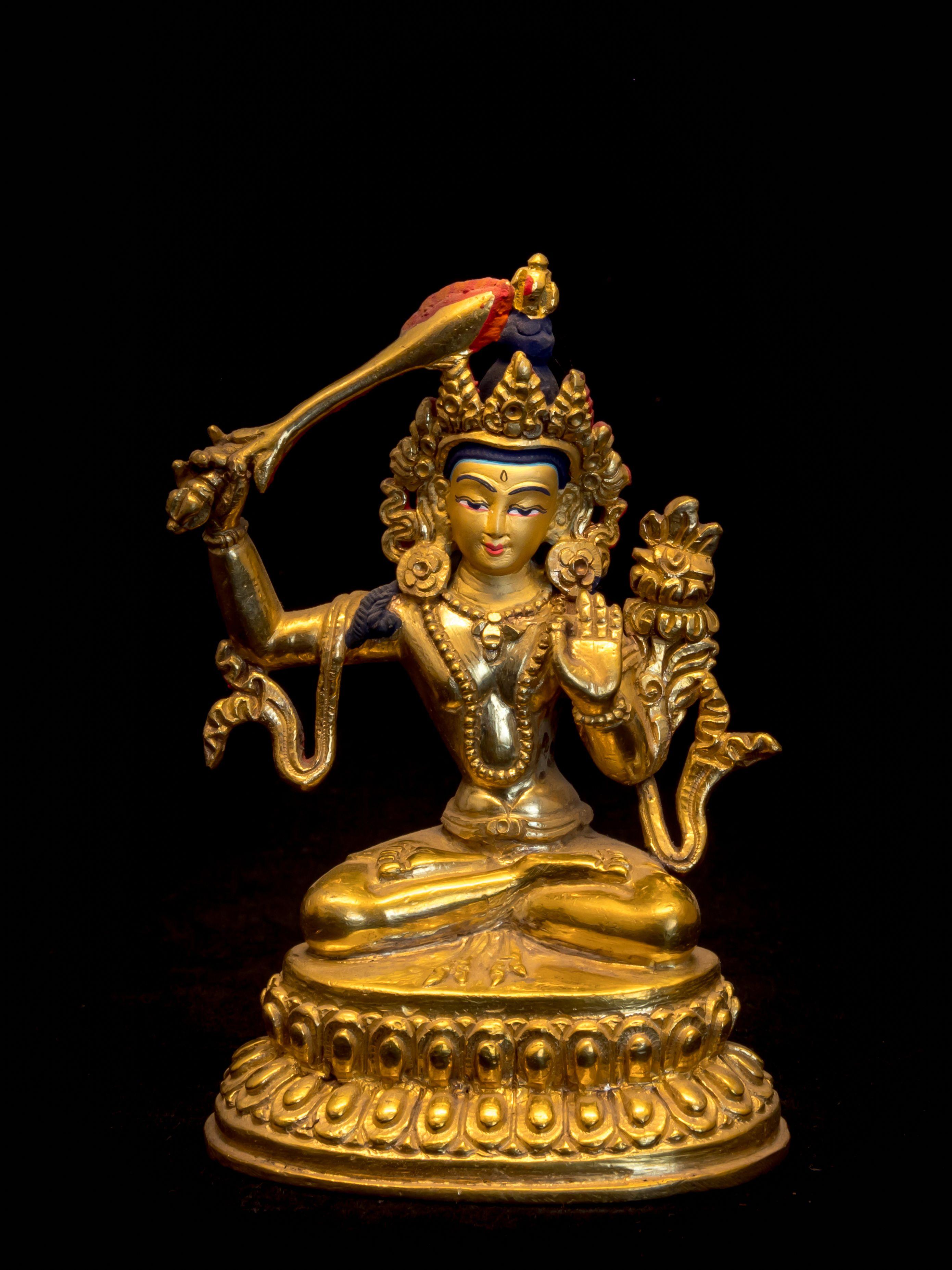 7 Antique old temple Tibetan Buddhism bronze gilt Champa