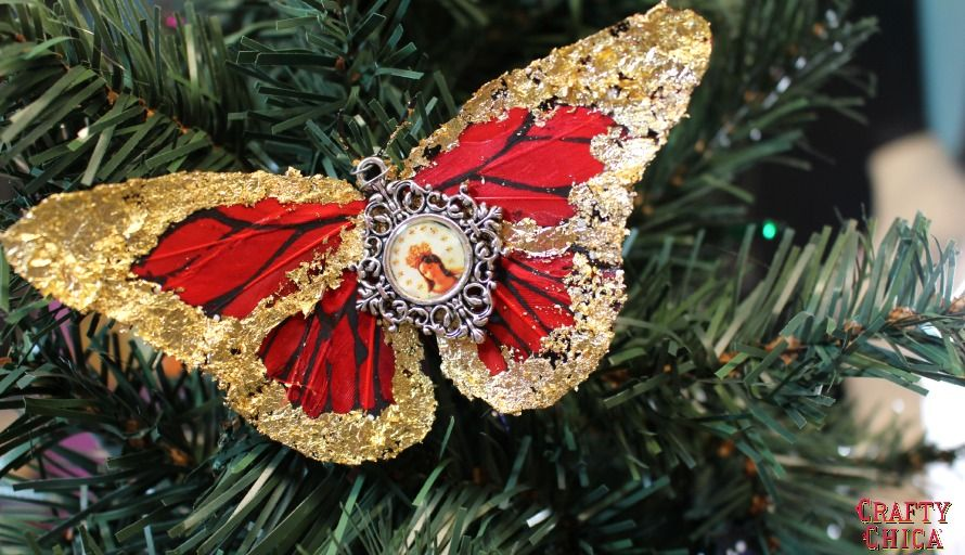 Quintessentially Christmas: Gilded Butterfly Ornaments | Ornaments ...